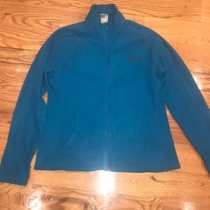 Women's The North Face fleece M turquoise blue